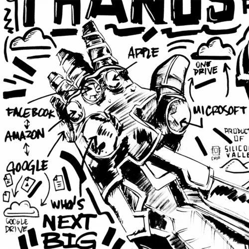 THANOS DC COMICS NOTTE Laurent Notte DOODLE Doodle Art MARVEL