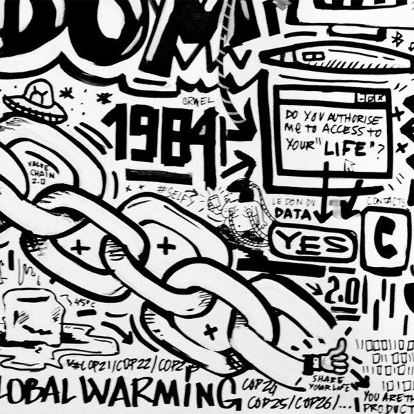 NOTTE Laurent Notte DOODLE Doodle Art MARVEL THANOS DC COMICS