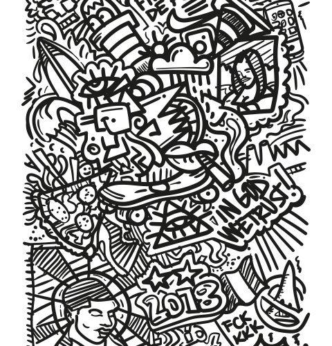 NOTTE Laurent Notte DOODLE Doodle Art