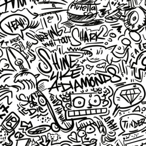 Wordl 2.0 Notte ART DOODLE