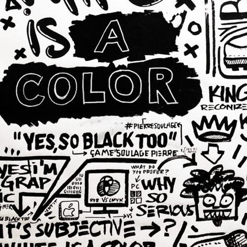 White is a color so black Notte ART